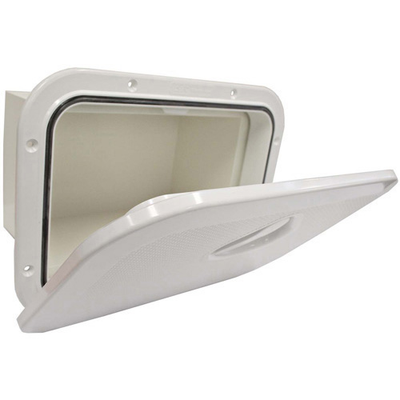 RWB Deluxe Storage Hatch Box White