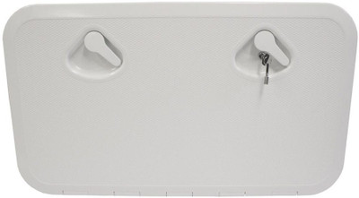 RWB Deluxe Storage Hatch Box with Lock 600 White
