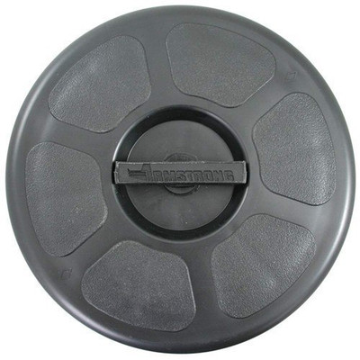 RWB Deck Plate Waterproof Round 300mm OA  - Black