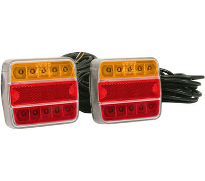 RWB Axis Trailer LED Lights - 8M Cable, 3 Plugs