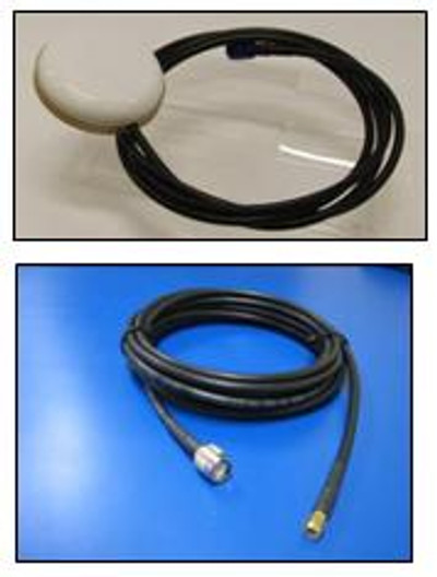 Iridium Antenna - Mini magnetic patch with coax tail (including 1.5m tail plus 4.5m cable)
