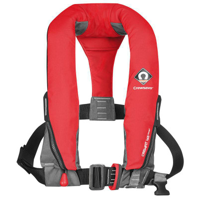 Crewsaver Crewfit 165N Sport Lifejacket - Manual, Harness, Fiery Red