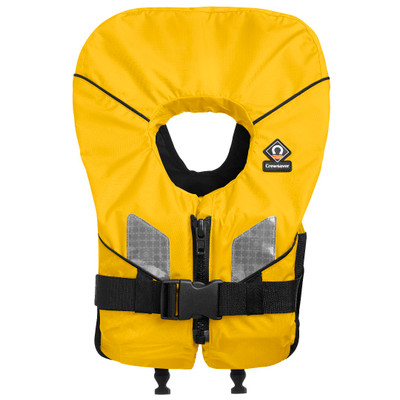 Crewsaver Spiral 100N Front Zip Yellow Lifejackets - Baby/Child/Adult Sizes