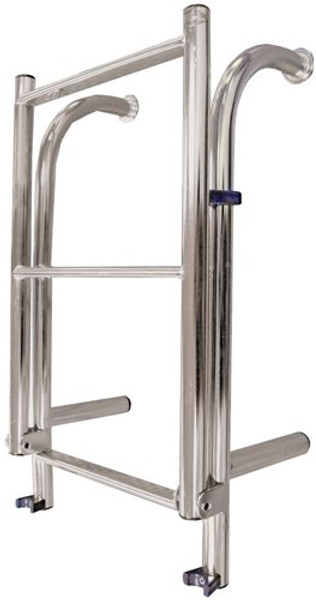 RWB Stainless Steel 4 Rung Yacht Ladder Bolt-on/Clip-on