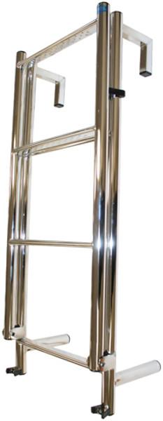 RWB Stainless Steel Toe Rail 6 Rung Yacht Ladder