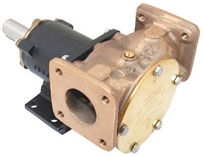 RWB Jabsco Heavy Duty Composite Pump Bronze Flanged Ports 1 1/2