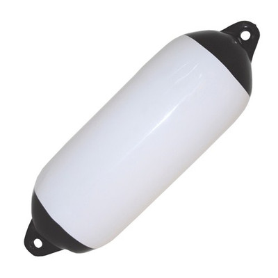 RWB Heavy Duty Boat Fenders - White with Black Ends