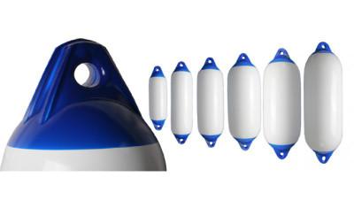 RWB Heavy Duty Boat Fenders - White with Blue Ends
