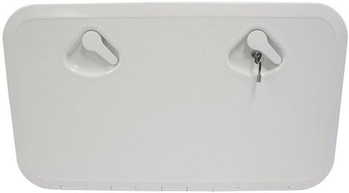 RWB Deluxe Storage Hatch Box with Lock 600 White (RWB2343)