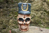 """SKULL POLICEMAN"" STATUE 16"" POP ART - CROSS BONES DECOR"