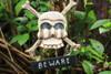 """Beware Skull Sign 12"""" - Crossbones Decor   #kng21004b"""
