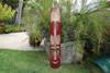 "FIJIAN TIKI MASK W/ CARVED TURTLE - 40"" OCEAN - POLYNESIAN ART"