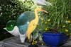 """""""EGRET BIRD"""" - RUSTIC YELLOW COASTAL 14"""" - GARDEN/HOME DECOR 4"""