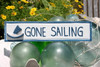 """GONE SAILING"" NAUTICAL SIGN 12"" BLUE - NAUTICAL DECOR"