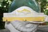 "Fish Hanger 12"" w/ 3 Pegs - Rustic Yellow Coastal Decor | #ort1700428y"