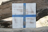 """X"" NAUTICAL RUSTIC FLAG 8' X 8' - WOOD PANEL - NAUTICAL DECOR"