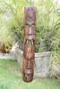 "FIJIAN TIKI MASK W/ 2 DEITIES - 40"" EVIL HUNTER - POLYNESIAN ART"