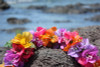 "Bougainvillea Poepoe, Multi Colored 18"" - Hawaii Silk Leis"