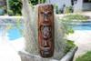 "FIJIAN TIKI MASK W/ 2 DEITIES - 20"" EVIL HUNTER - POLYNESIAN ART"