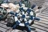 "Ship Wheel Wall Hanging 10"" Wooden - Blue Nautical Decor   #ort1701025b"