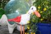 """""""SEAGULL BIRD"""" - RUSTIC RED COASTAL 14"""" - GARDEN/HOME DECOR"""