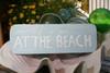 """LIFE IS GOOD AT THE BEACH"" COASTAL SIGN 14"" - RUSTIC WHITE & BLUE - NAUTICAL DECOR"