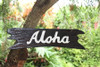 """""""Aloha"""" Sign on Driftwood 20"""" - Wooden Greeting Sign"""