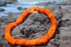 "Flower Lei Ilima Orange 18"" - Hawaiian Silk Leis"