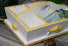 """DIVIDER TRAY 6 SECTIONS 16"""" - YELLOW NAUTICAL DECOR"""