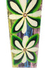 """Tiare Flower Painting on Wood Planks 32"""" X 8"""" Rustic Wall Decor 