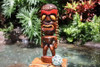 "Lucky Tiki God 16"" - Hand Carved - Hawaii Treasure 