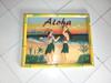 "HULA DANCERS BY THE BEACH ""ALOHA"" - BAMBOO FRAME 24"" X 16"""