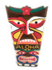 "Colorful ""Aloha"" Tiki Mask 20"" - Love & Prosperity 