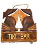 "Kissy Fish Tiki Bar Sign 15"" - Tropical Accents Antique Finish   #dpt5080"