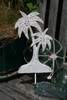 "Palm Tree Hanger 12"" - Rustic Coastal Decor | #ata1801230"