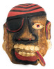 """Pirate Wall Plaque 8"""" w/ Cigar & Earrings - Pirate Decor 