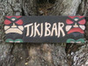 """Tiki Bar Sign 24"""" - Hand Carved Tikis - Carved 