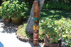"""Tiki Mask """"Hospitality"""" 50 inch w/ Pineapples - Hand Carved 