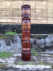 "Love Tiki Totem 40"" Antique Finish - Hand Carved 