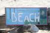 """BEACH"" WEATHERED NAUTICAL SIGN 14"" - BEACH COTTAGE DECOR"