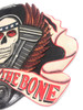 """Bad To The Bone Sign Hanging Sign - 24"""" X 16"""" Skull Decor 