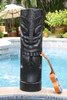 "Maori Warrior Tiki Totem 40"" Black - Nodern Pop Art 