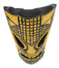 "Tropical Tiki Mask 12"" - Burnt Finish - Faux Bamboo   #dpt53630"