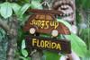 """""""SURF'S UP, FLORIDA"""" WOODY CAR SIGN 10"""" - TIKI BAR"""
