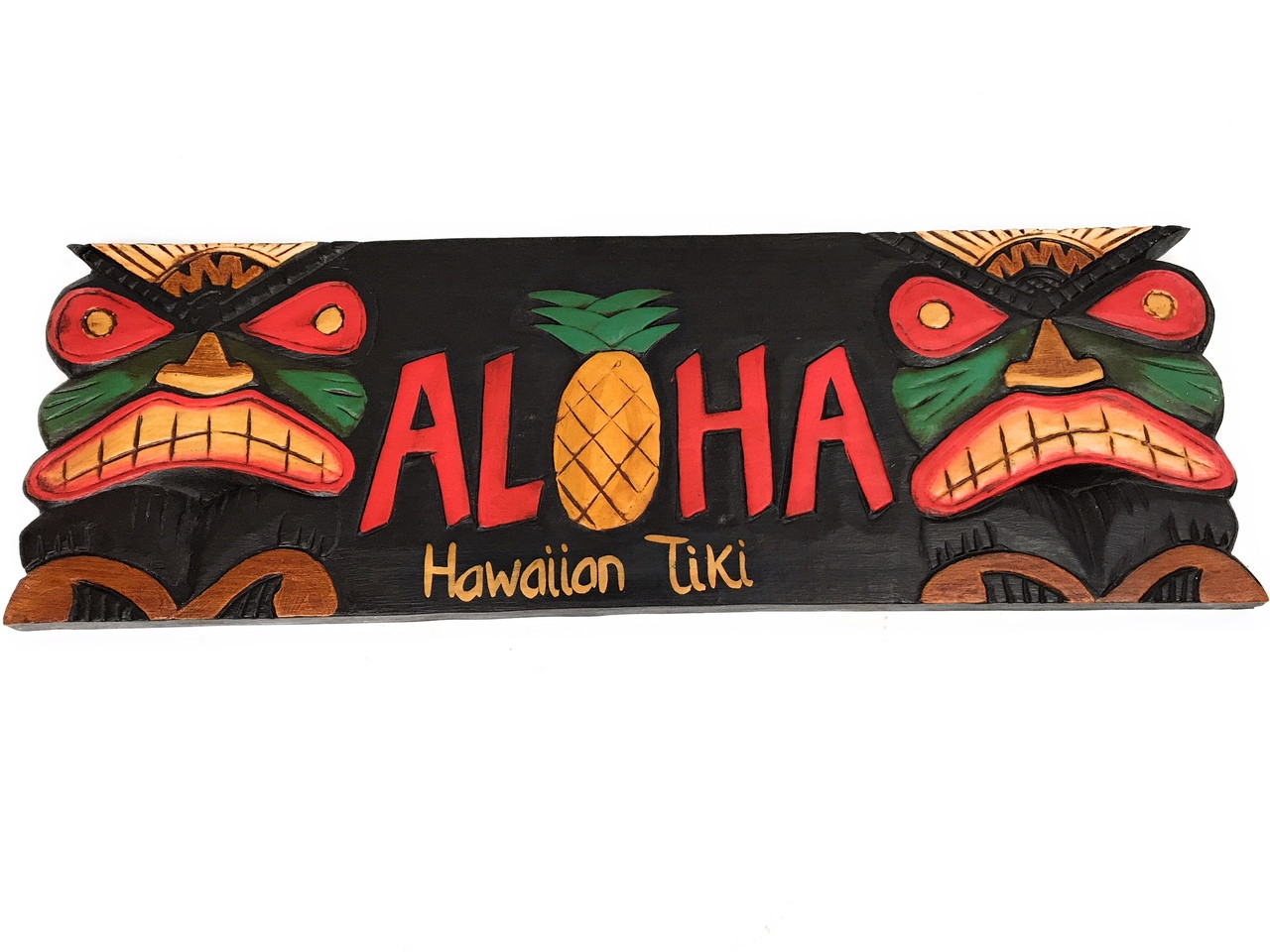 Tiki Bar Sign Quot Aloha Quot Pineapple 24 Quot Hand Carved