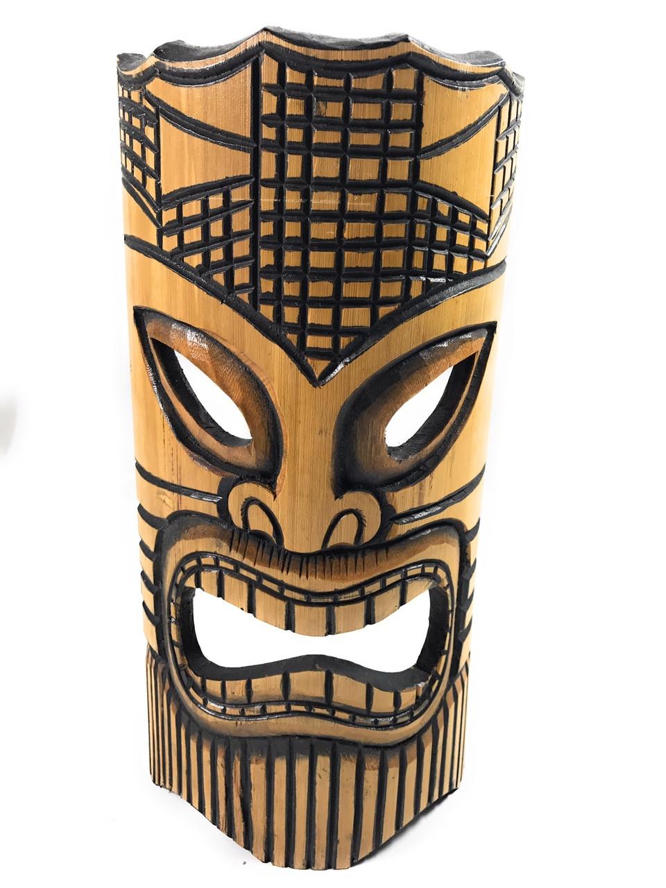 Happy Bamboo Tiki Mask 12 Quot Dpt509630 Tikimaster Com