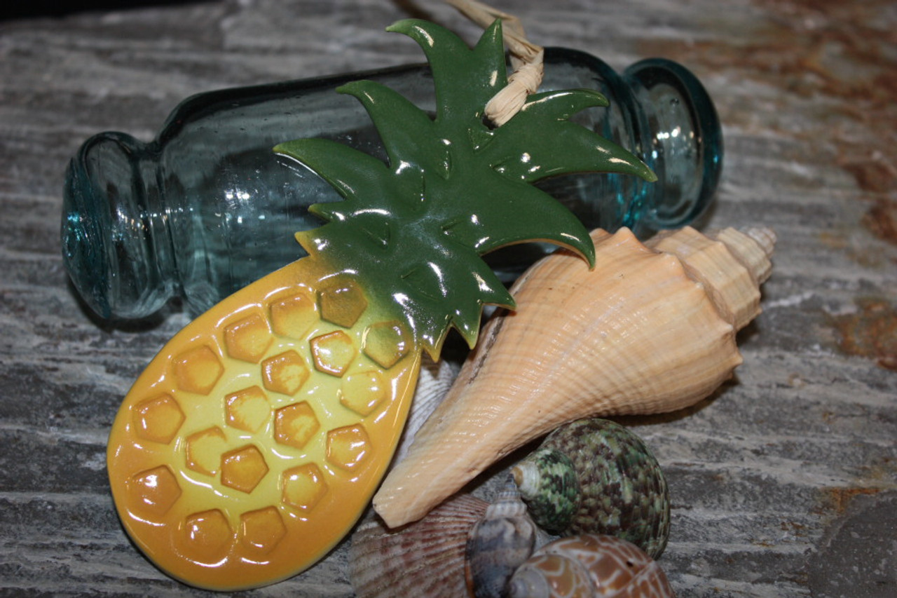 pineapple christmas ornament ceramic 5 hawaii clay8