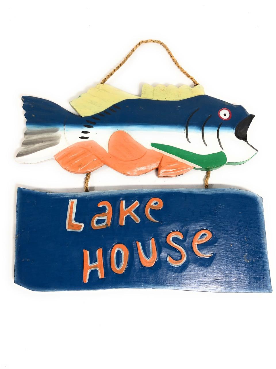 "Lake House Sign 15"" - Decorative Lake Cabin Accents"