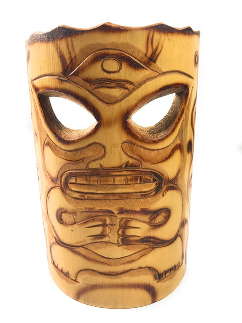 "Strength Bamboo Tiki Mask 7""   #bag1502417"