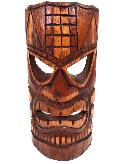 "Love Tiki Mask 12"" - Antique Finish - Tropical Decor | #dpt501630"